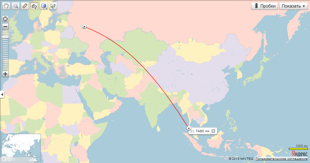 Расстояние от москвы до пхукета