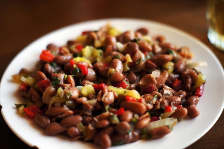 Фасоль с орехами по-грузински с фото