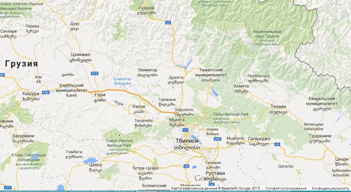 Karta Gruzii Na Russkom Karta Kurortov Gruzii