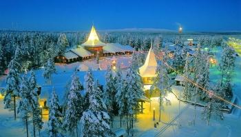 Деревня Санта Клауса в Финляндии фото