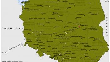 Карта Польши