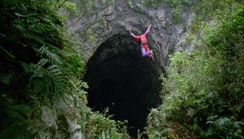 Пещера Ласточек в Мексике фото