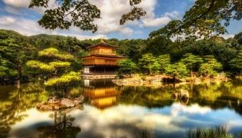 Золотой павильон в Киото фото